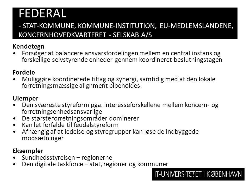 FEDERAL - STAT-KOMMUNE, KOMMUNE-INSTITUTION, EU-MEDLEMSLANDENE, KONCERNHOVEDKVARTERET - SELSKAB A/S