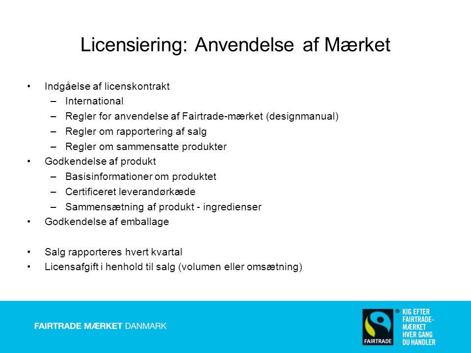 Licensiering: Anvendelse af Mærket