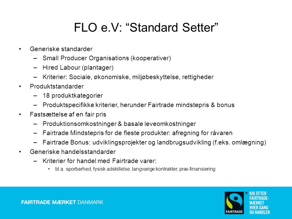 FLO e.V: Standard Setter