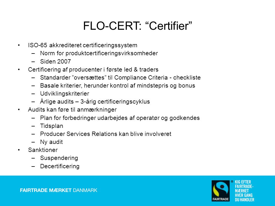 FLO-CERT: Certifier