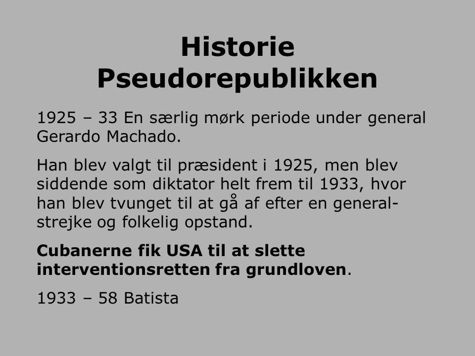 Historie Pseudorepublikken