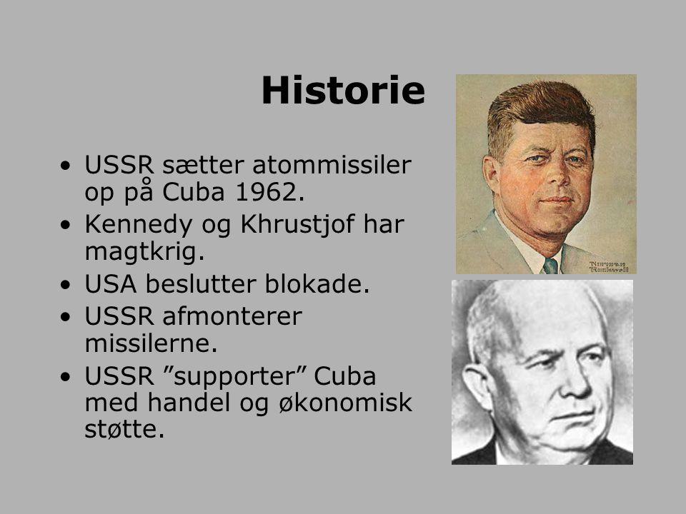 Historie USSR sætter atommissiler op på Cuba 1962.