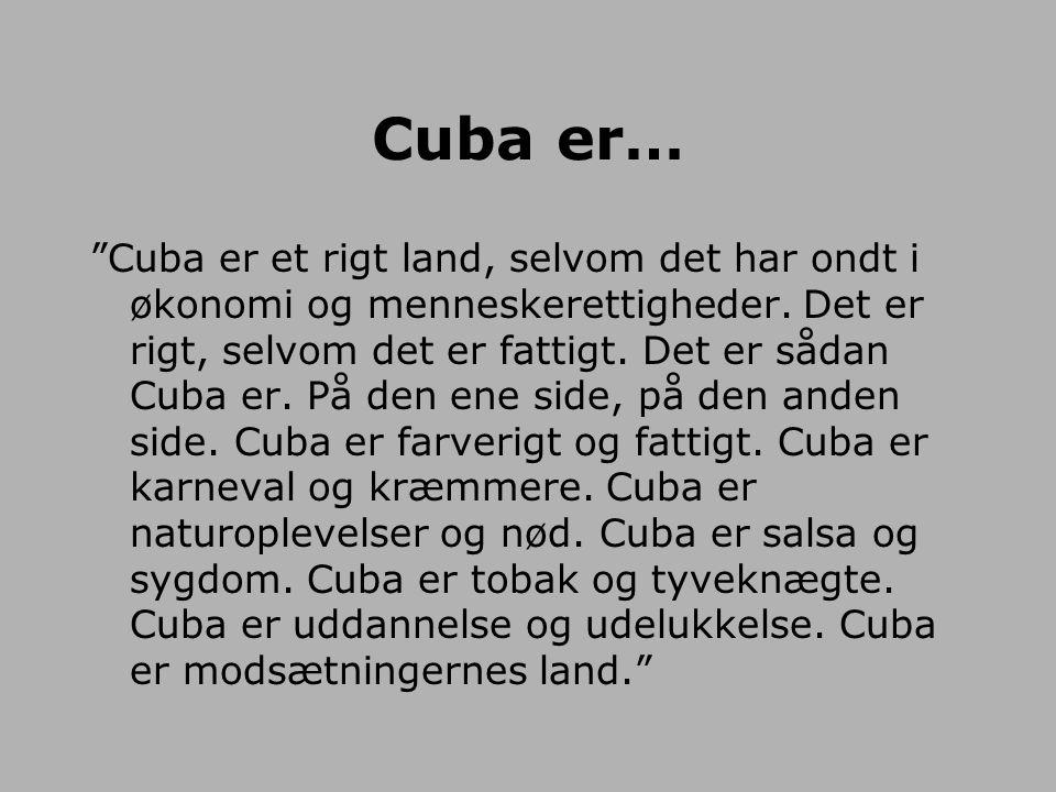Cuba er…