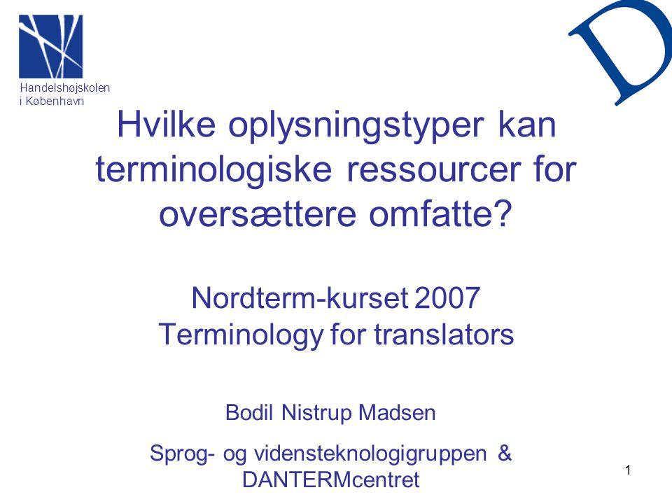 Sprog- og vidensteknologigruppen & DANTERMcentret