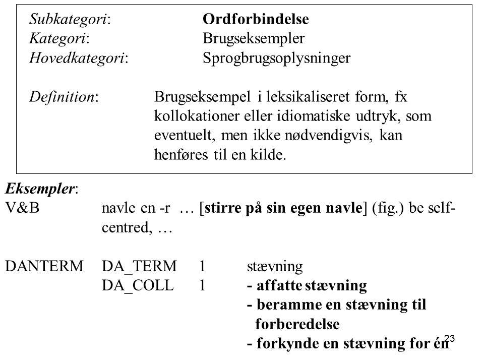 Subkategori: Ordforbindelse