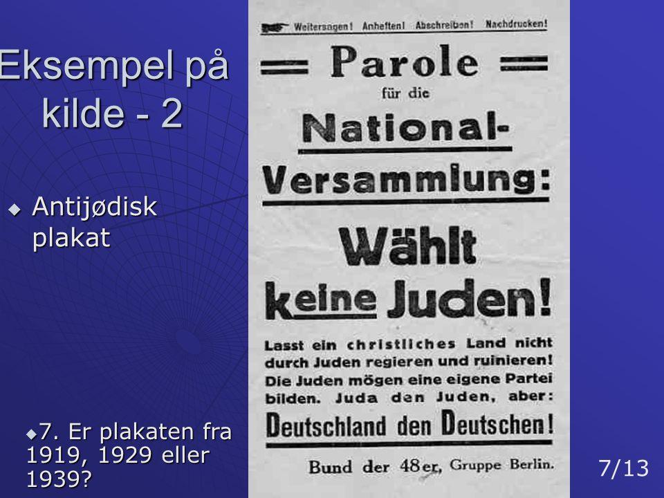 Eksempel på kilde - 2 Antijødisk plakat
