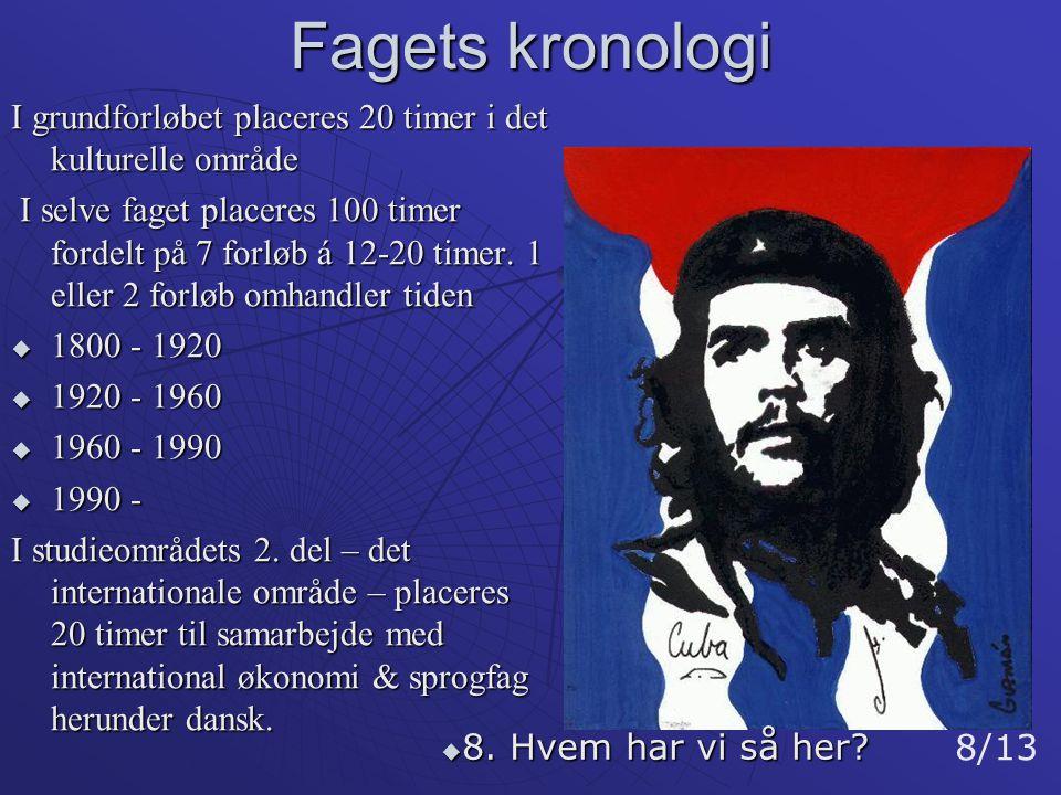 Fagets kronologi I grundforløbet placeres 20 timer i det kulturelle område.