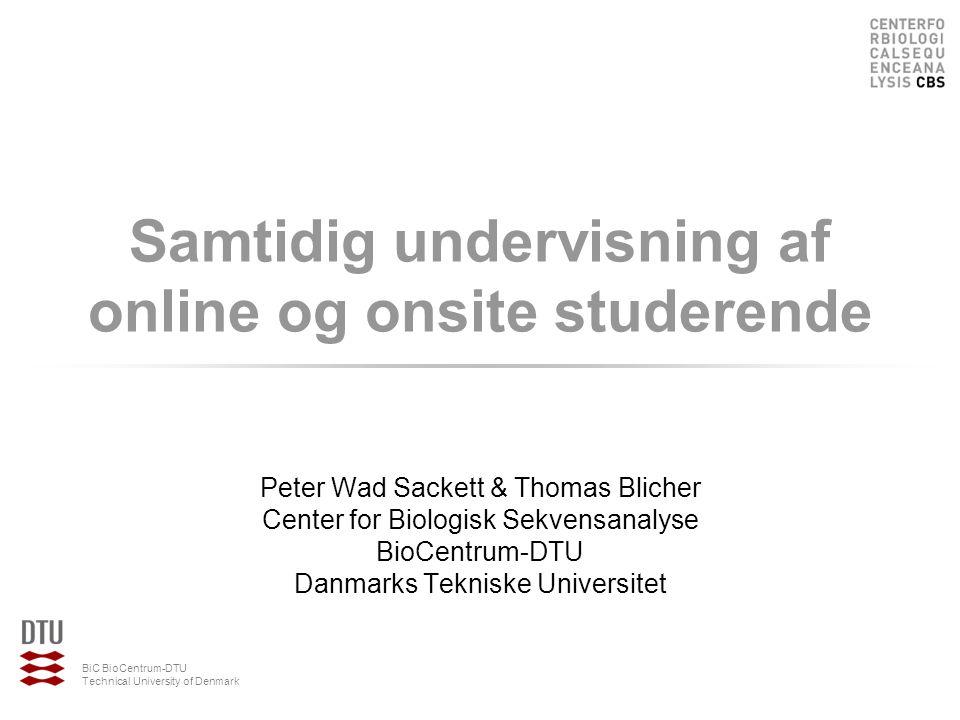 Samtidig undervisning af online og onsite studerende