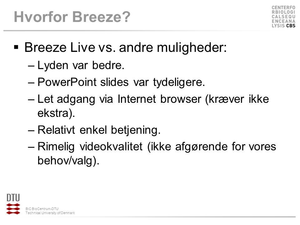 Hvorfor Breeze Breeze Live vs. andre muligheder: Lyden var bedre.
