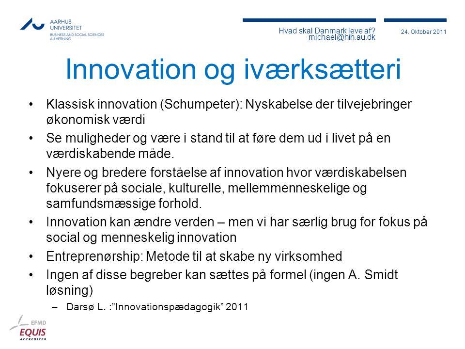 Innovation og iværksætteri