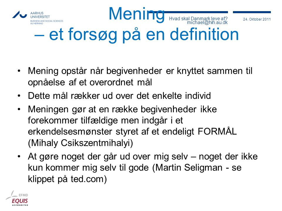 Mening – et forsøg på en definition