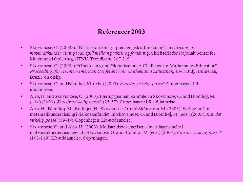 Referencer 2003