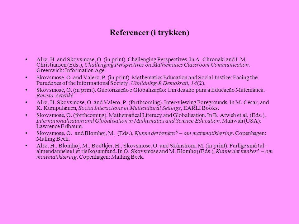 Referencer (i trykken)