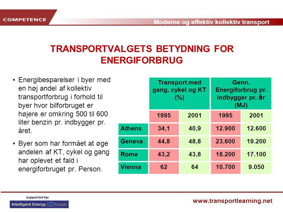 TRANSPORTVALGETS BETYDNING FOR ENERGIFORBRUG