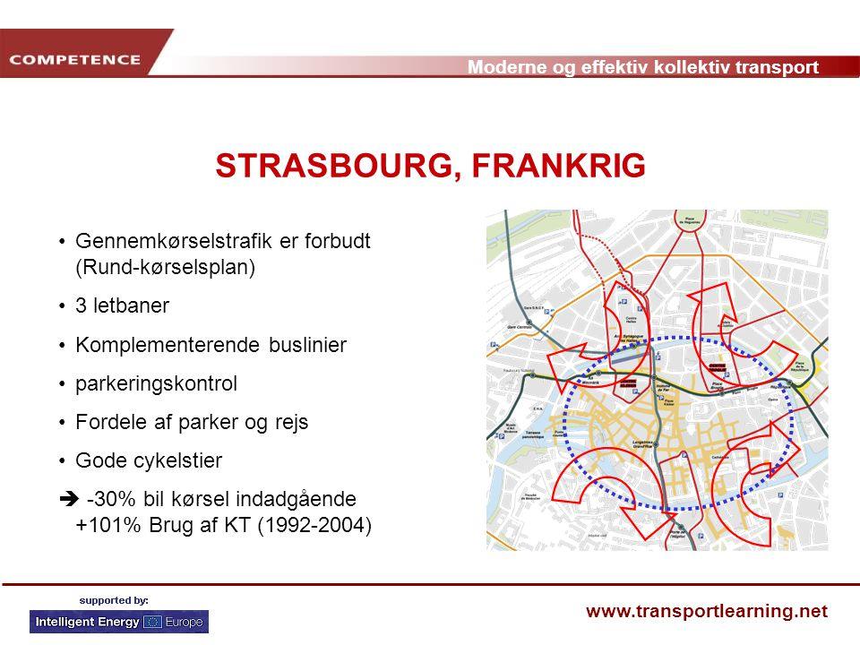 STRASBOURG, FRANKRIG Gennemkørselstrafik er forbudt (Rund-kørselsplan)