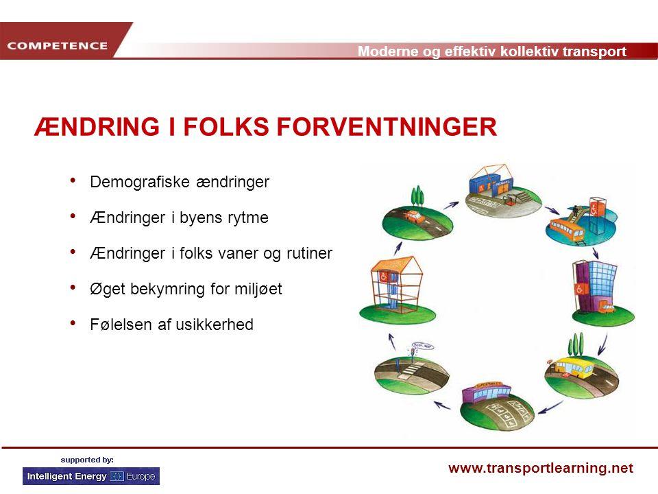 ÆNDRING I FOLKS FORVENTNINGER