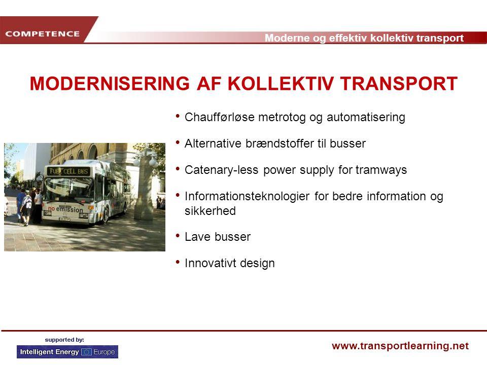 MODERNISERING AF KOLLEKTIV TRANSPORT