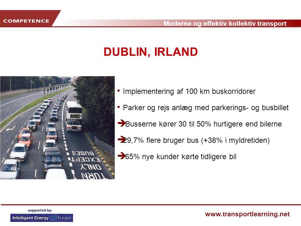 DUBLIN, IRLAND Implementering af 100 km buskorridorer