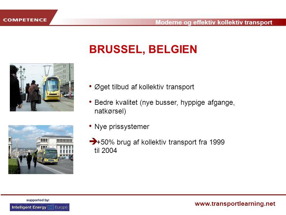 BRUSSEL, BELGIEN Øget tilbud af kollektiv transport