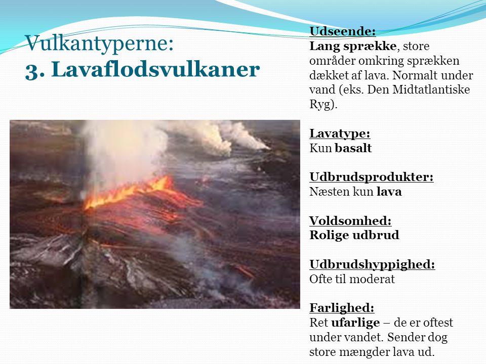 Vulkantyperne: 3. Lavaflodsvulkaner
