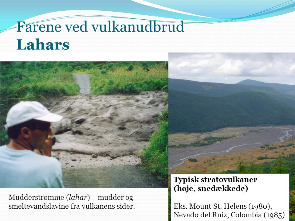 Farene ved vulkanudbrud Lahars
