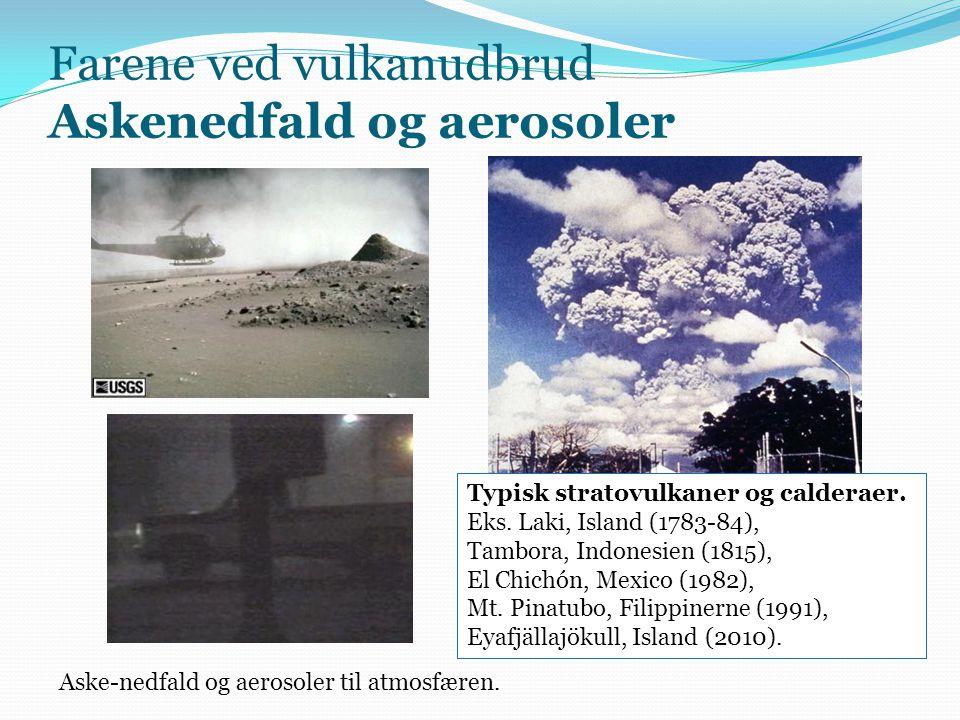 Farene ved vulkanudbrud Askenedfald og aerosoler