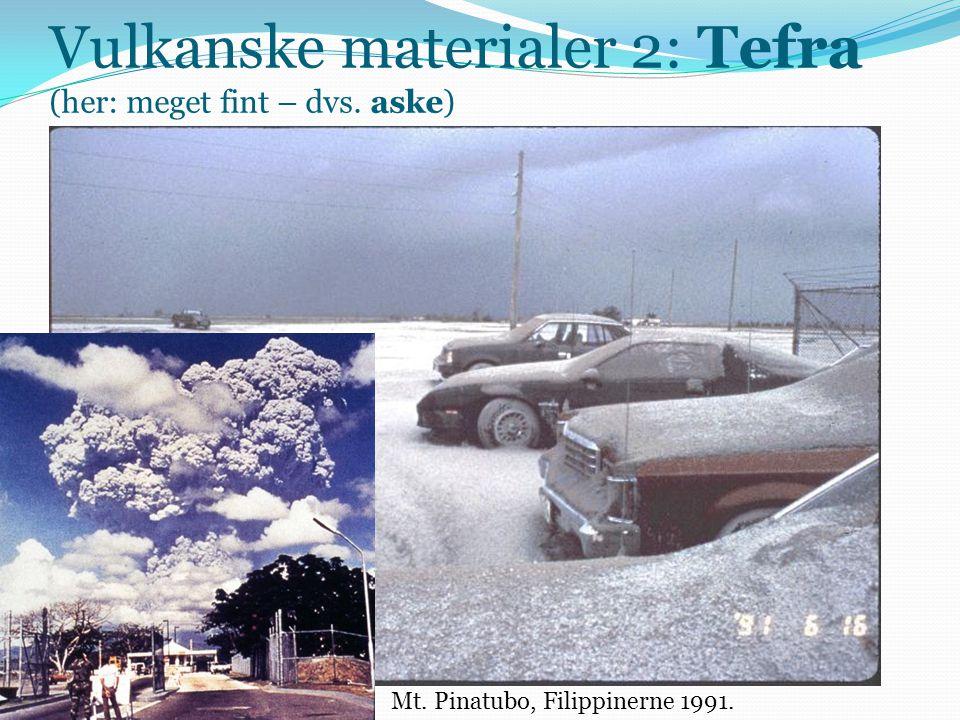 Vulkanske materialer 2: Tefra (her: meget fint – dvs. aske)