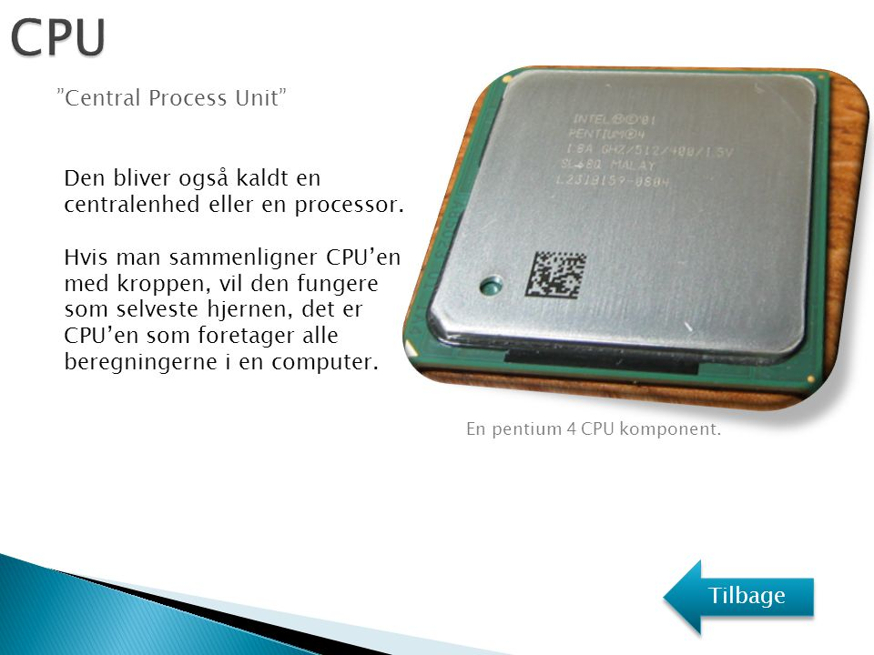 CPU Central Process Unit