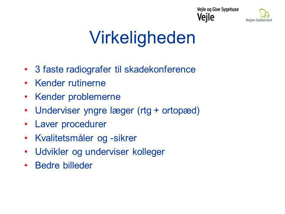 Virkeligheden 3 faste radiografer til skadekonference Kender rutinerne
