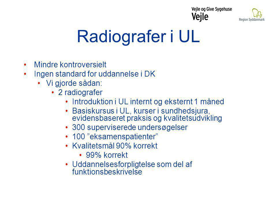 Radiografer i UL Mindre kontroversielt