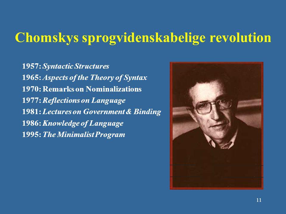 Chomskys sprogvidenskabelige revolution