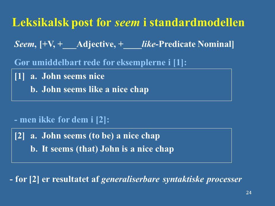 Leksikalsk post for seem i standardmodellen