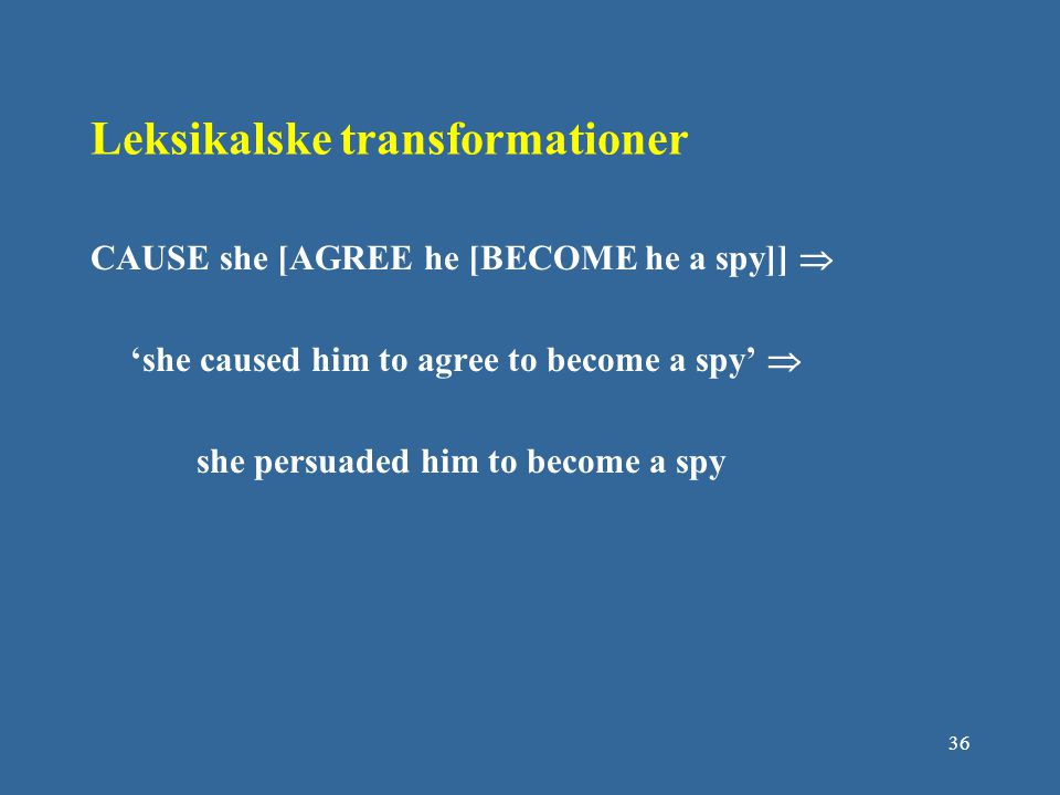 Leksikalske transformationer