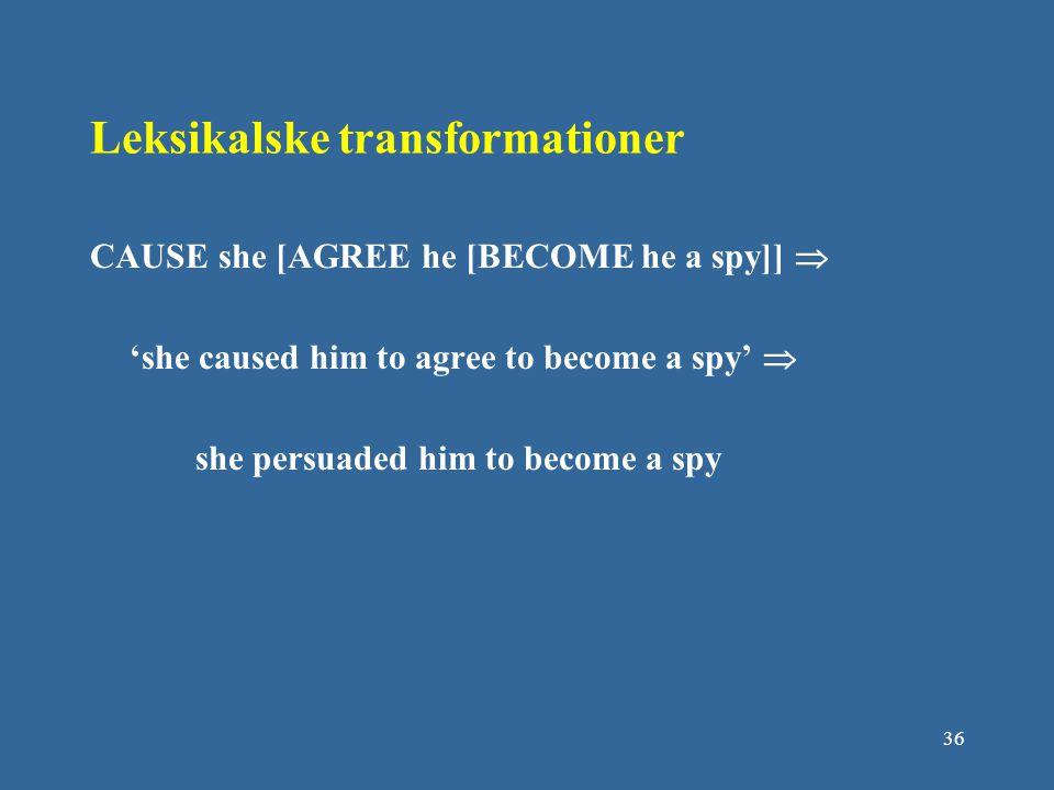 Leksikalske transformationer