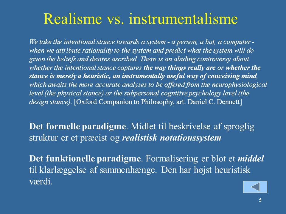 Realisme vs. instrumentalisme