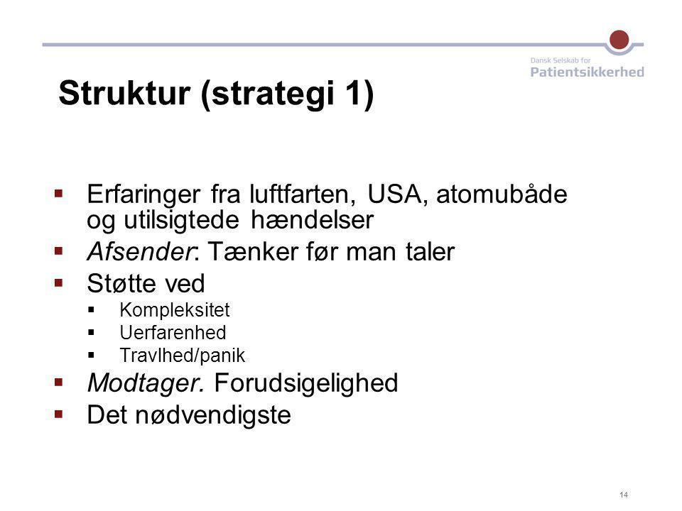 17-04-05 Struktur (strategi 1) Erfaringer fra luftfarten, USA, atomubåde og utilsigtede hændelser.