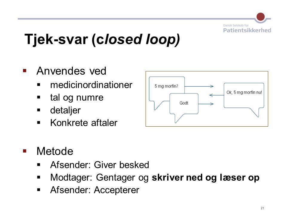 Tjek-svar (closed loop)