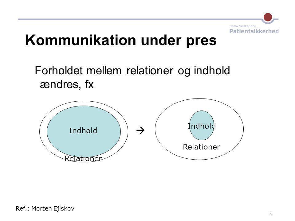 Kommunikation under pres