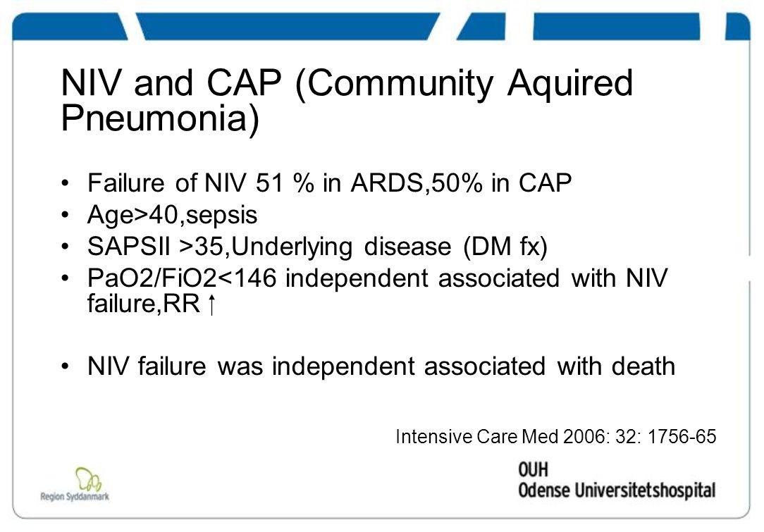 NIV and CAP (Community Aquired Pneumonia)