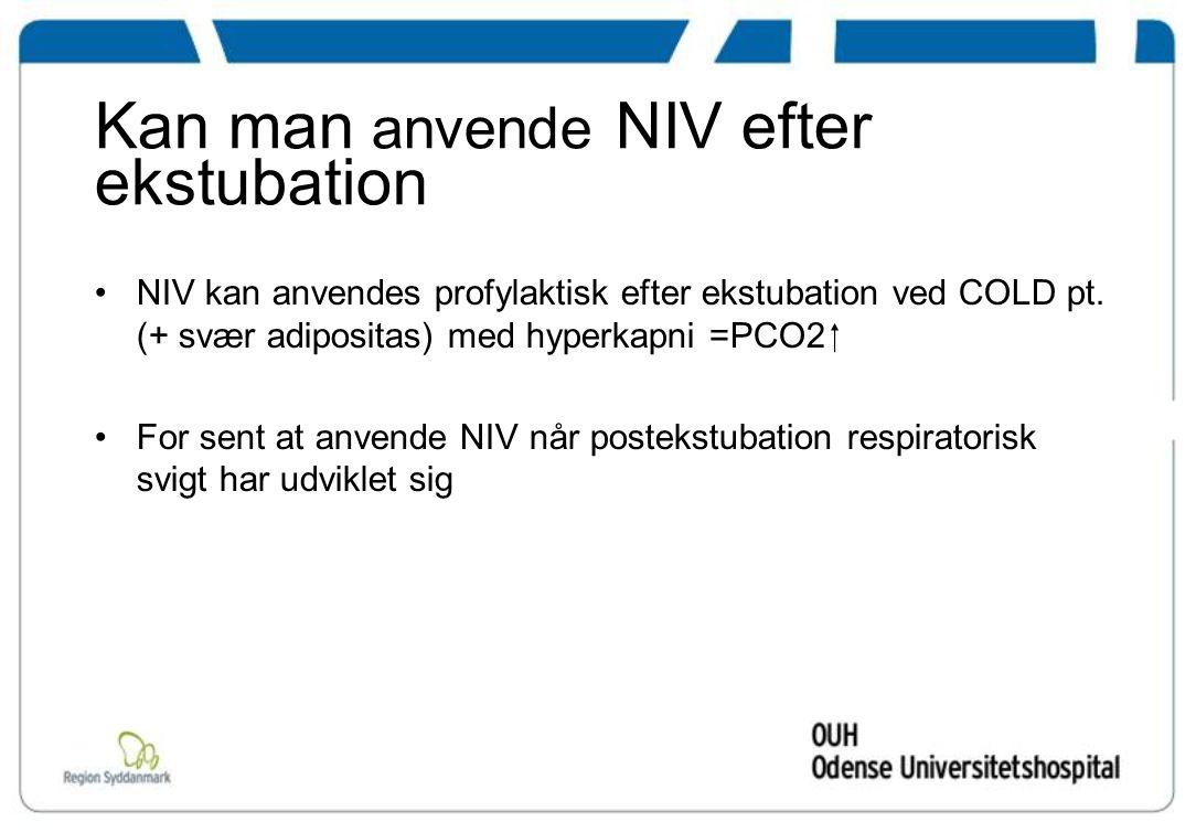 Kan man anvende NIV efter ekstubation