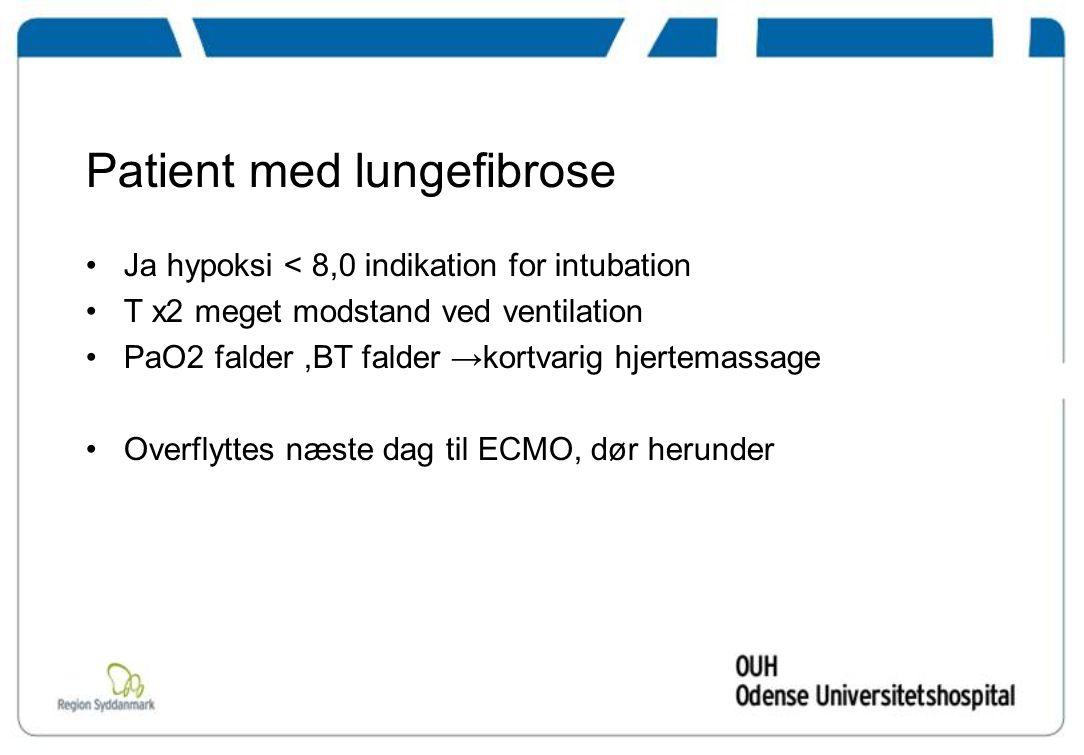 Patient med lungefibrose