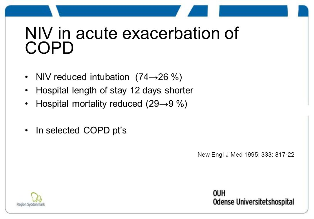 NIV in acute exacerbation of COPD