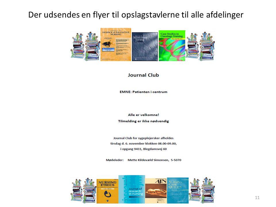 Der udsendes en flyer til opslagstavlerne til alle afdelinger
