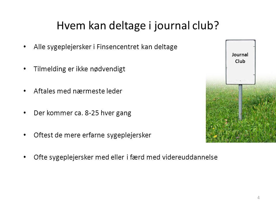 Hvem kan deltage i journal club