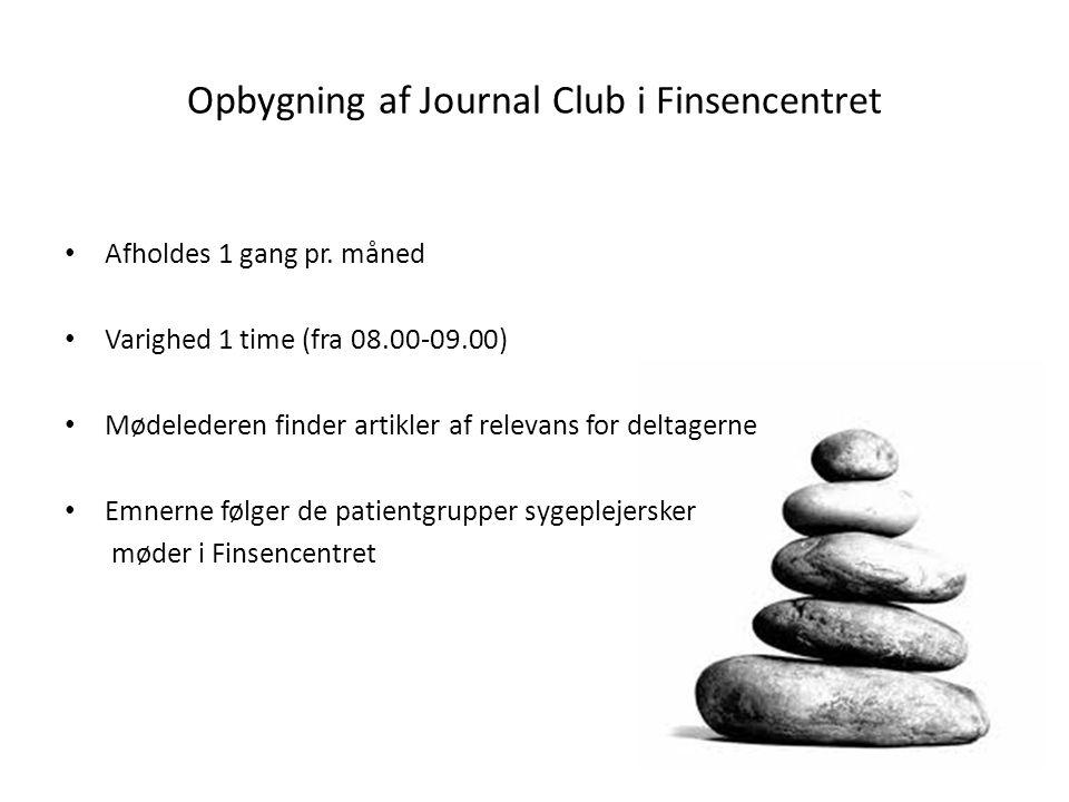 Opbygning af Journal Club i Finsencentret