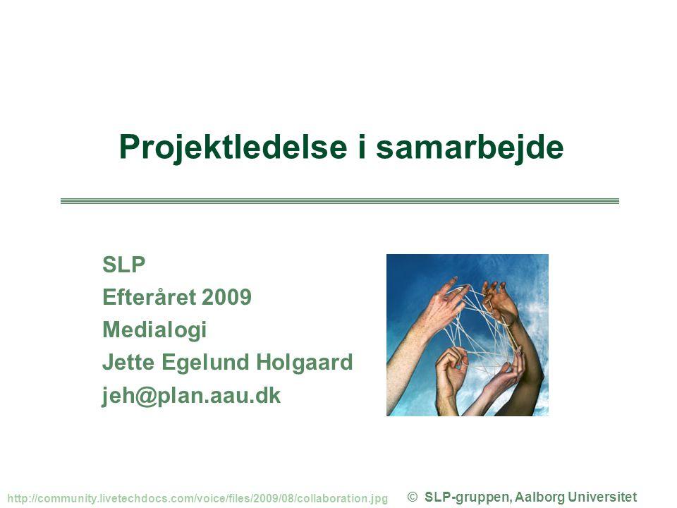Projektledelse i samarbejde © SLP-gruppen, Aalborg Universitet