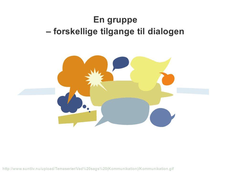 En gruppe – forskellige tilgange til dialogen