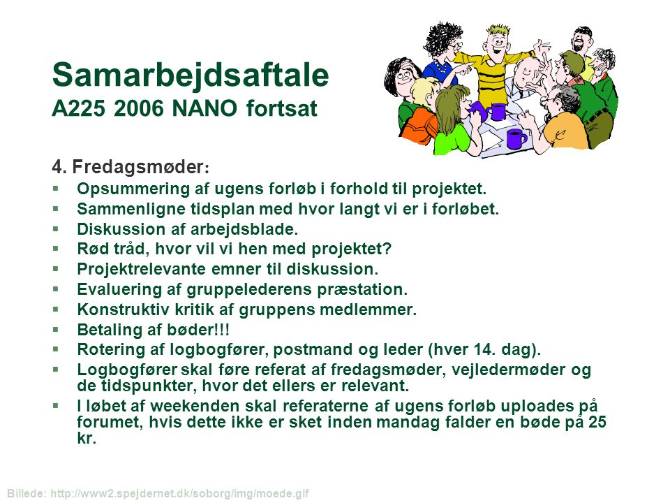 Samarbejdsaftale A225 2006 NANO fortsat