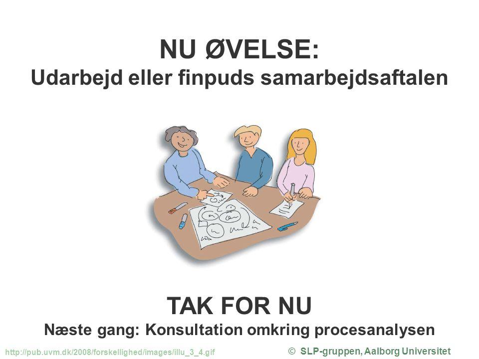 NU ØVELSE: TAK FOR NU Udarbejd eller finpuds samarbejdsaftalen