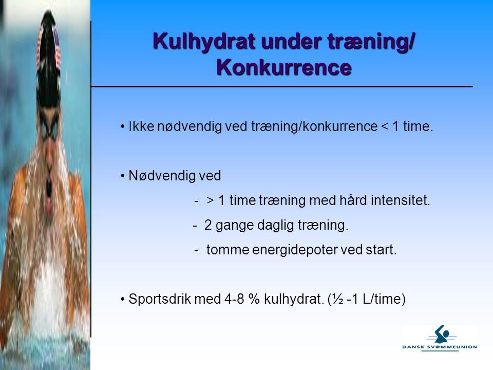 Kulhydrat under træning/ Konkurrence